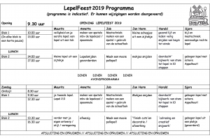 Lepelfeest2019 Programma